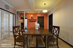 精美面积129平美式四居餐厅装修欣赏图