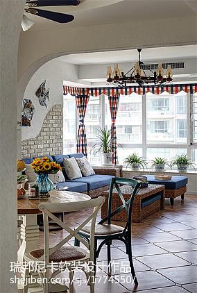 精美地中海四居客厅效果图片欣赏