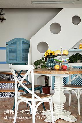 精美地中海四居餐厅装修效果图片欣赏