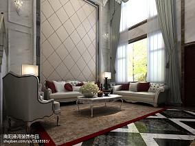 热门面积117平复式客厅欧式装修图