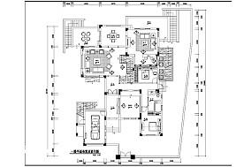 113平米美式别墅客厅装修效果图片大全
