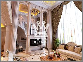 热门128平米欧式复式客厅装修实景图片欣赏