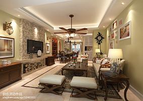 2018精选面积95平田园三居客厅装修设计效果图片