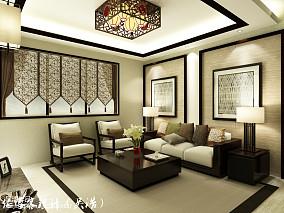 精美面积87平小户型客厅中式装饰图片大全