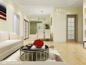 大小102平现代三居客厅实景图