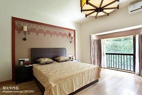 精美128平米中式别墅卧室装修图