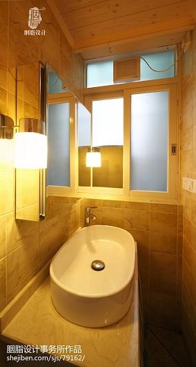 简洁80平混搭二居卫生间实景图卫生间潮流混搭设计图片赏析