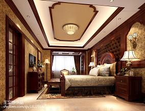 2018精选124平米美式复式卧室装修设计效果图片欣赏