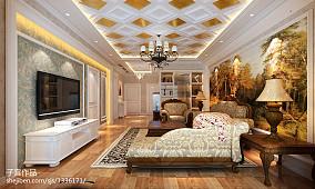 精选面积74平欧式二居客厅装修效果图片