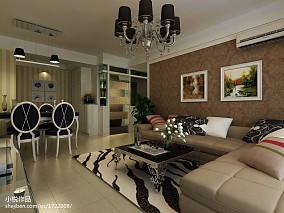 101平米三居客厅欧式实景图片大全