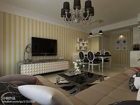 热门93平米三居客厅欧式装修效果图片