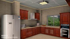 精美133平米欧式别墅厨房实景图