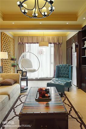 热门114平米混搭复式客厅装修效果图片