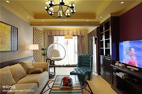 热门面积120平复式客厅混搭装修图片大全