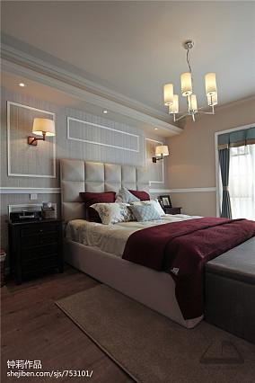 精美110平米美式复式卧室欣赏图