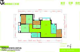 精美108平大小客厅三居现代效果图片