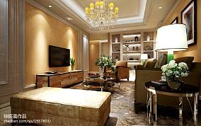 2018精选77平米二居客厅欧式装修效果图片大全