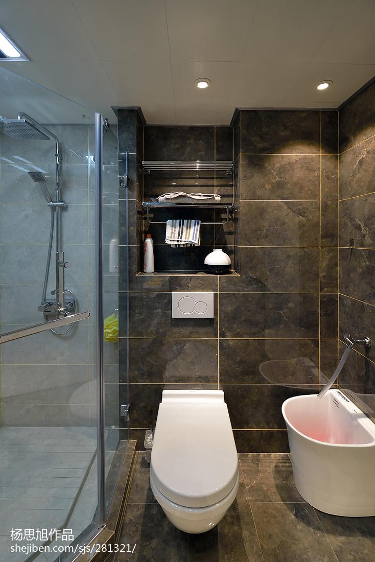 现代风格卫生间马桶装修图卫生间马桶现代简约卫生间设计图片赏析
