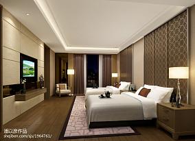 2018中式别墅卧室装修设计效果图片欣赏