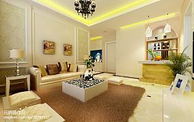 精选80平米二居客厅欧式实景图片