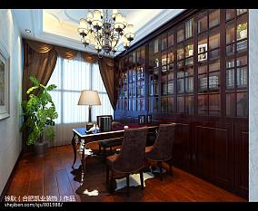热门121平米四居书房欧式装修欣赏图