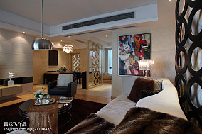 面积139平现代四居客厅装修实景图片欣赏