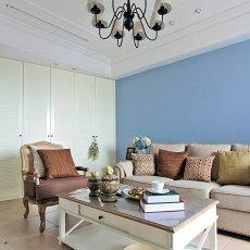 精选面积84平田园二居客厅装修设计效果图片