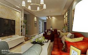 精美73平米二居客厅美式实景图片欣赏