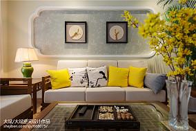 中式风格客厅背景墙装修效果图欣赏客厅中式现代客厅设计图片赏析