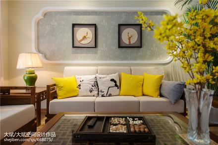 中式风格客厅背景墙装修效果图欣赏