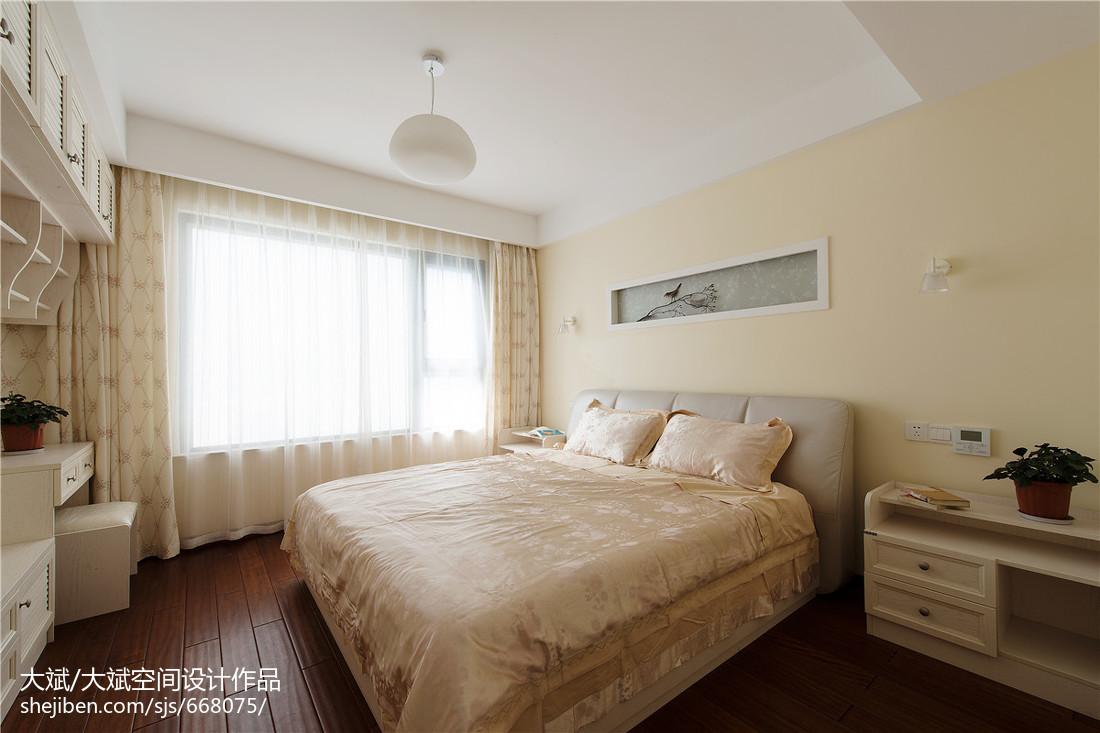 精美面积104平中式三居卧室装饰图卧室中式现代卧室设计图片赏析