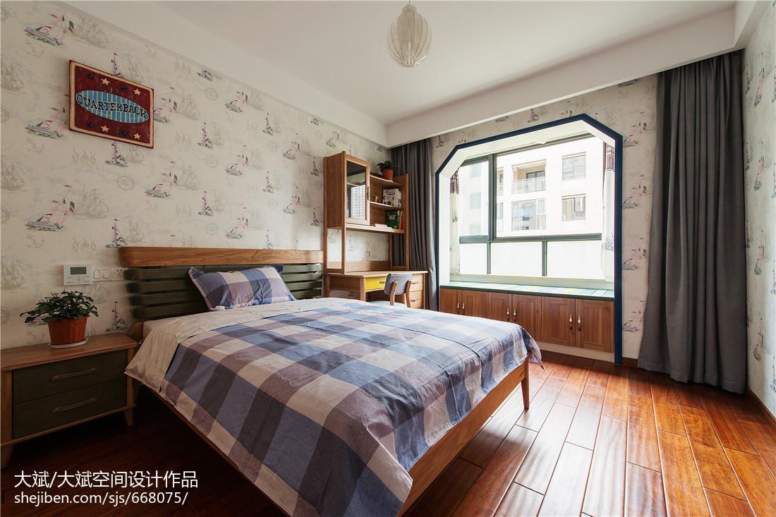 中式风格儿童房飘窗装修效果图卧室中式现代卧室设计图片赏析