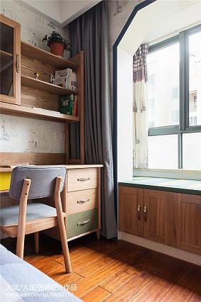中式风格儿童房书桌装修效果图