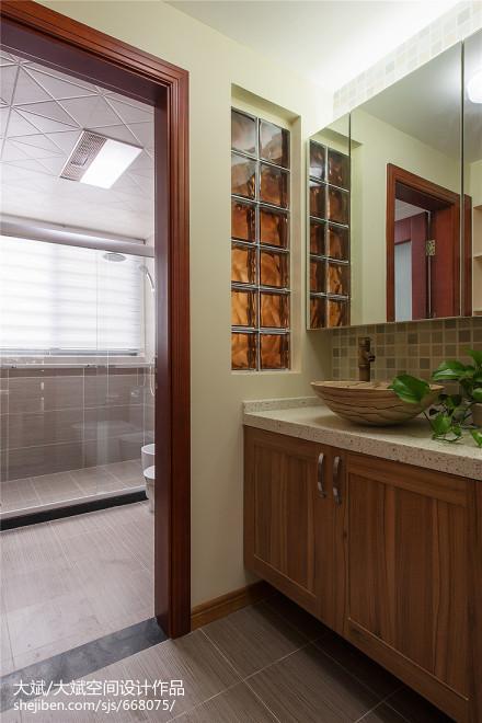 三居卫生间中式装修实景图片大全餐厅