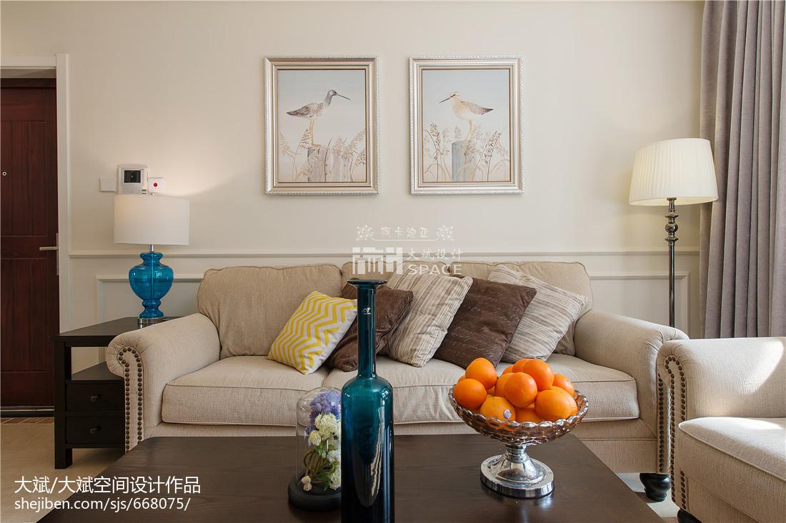 美式风格客厅背景墙装修图片展示客厅沙发美式经典客厅设计图片赏析