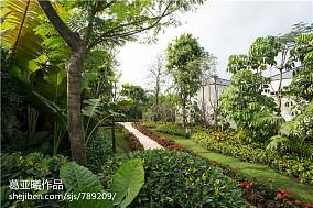 2018精选面积130平别墅花园东南亚实景图片欣赏