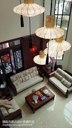 精选140平方中式别墅客厅效果图片