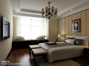 精美144平方四居卧室混搭欣赏图