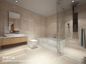 热门现代四居卫生间装修欣赏图