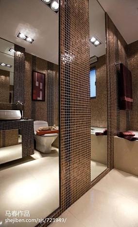 现代二居卫生间装修设计效果图