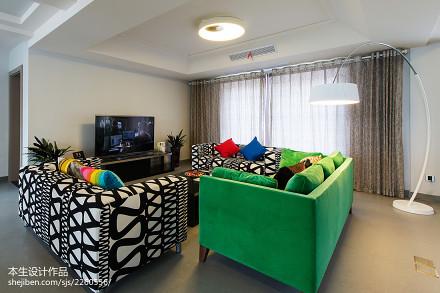 精选面积144平复式客厅现代装修图