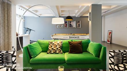 热门现代复式客厅装修欣赏图