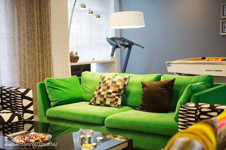 精选120平米现代复式客厅装修效果图片大全客厅2图