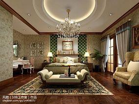 热门面积123平复式卧室美式效果图