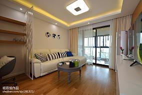 热门79平米二居客厅现代装修实景图
