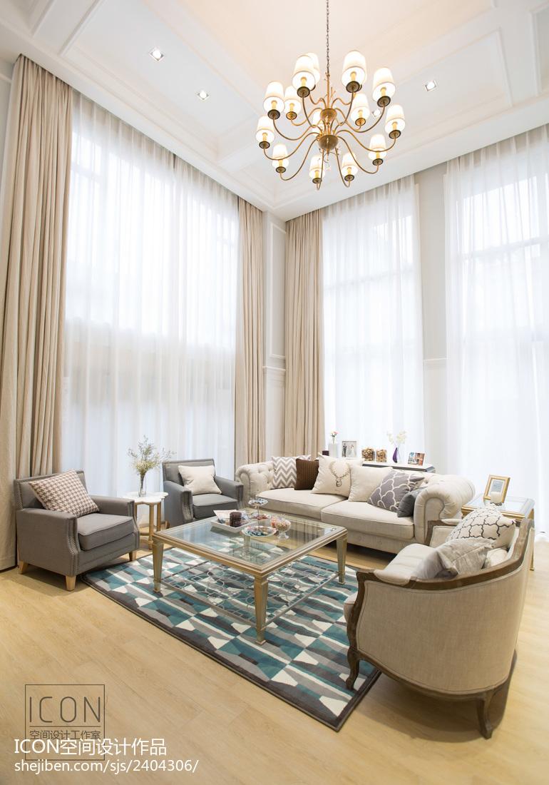 美式风格客厅落地窗装修设计图片大全客厅美式经典客厅设计图片赏析