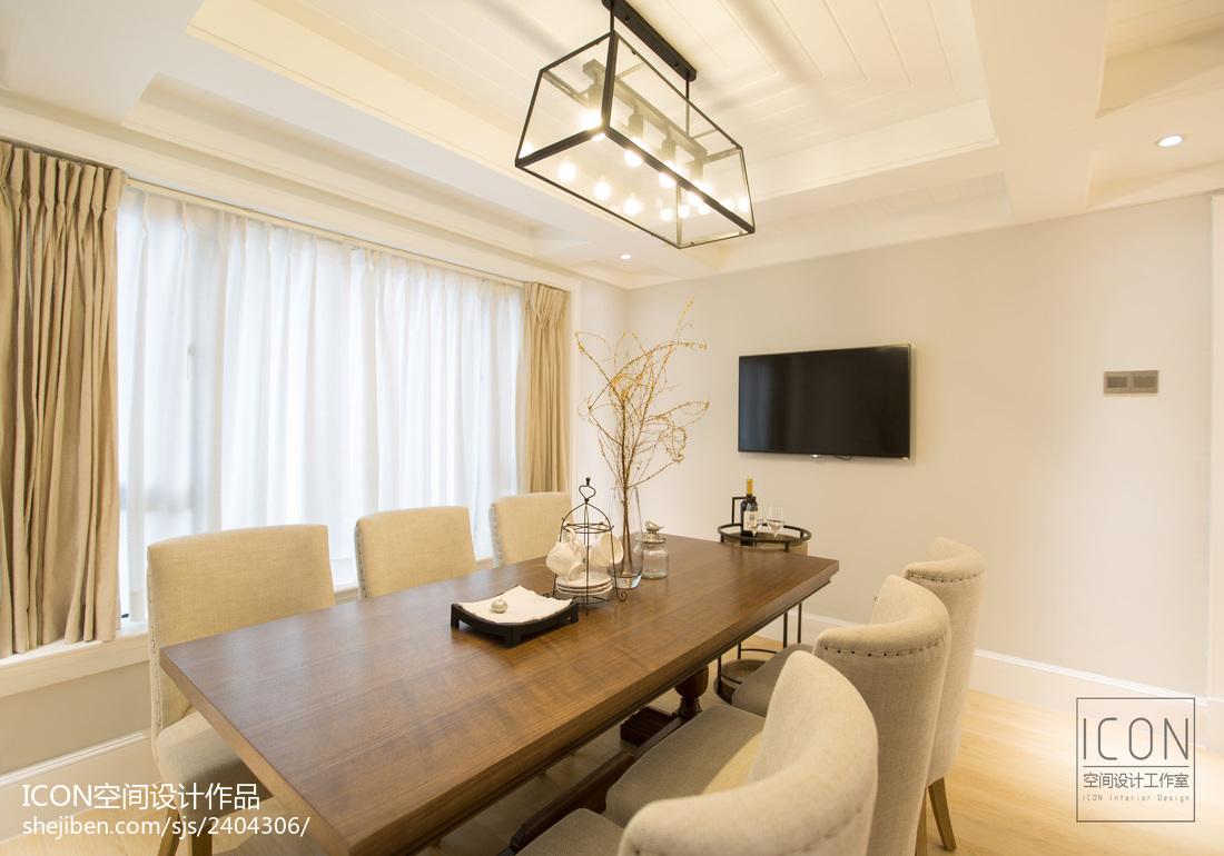 美式风格餐厅飘窗装修设计图片厨房窗帘美式经典餐厅设计图片赏析