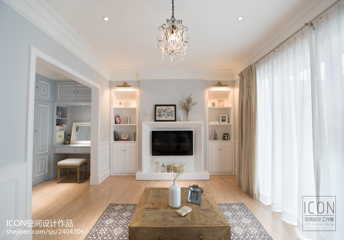 美式风格客厅落地窗装修设计图片美式经典设计图片赏析