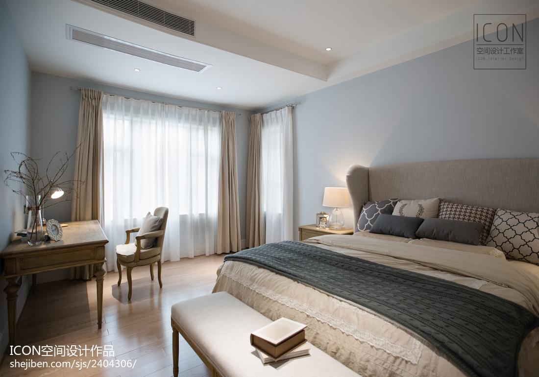 美式风格卧室飘窗装修设计图片卧室2图美式经典卧室设计图片赏析