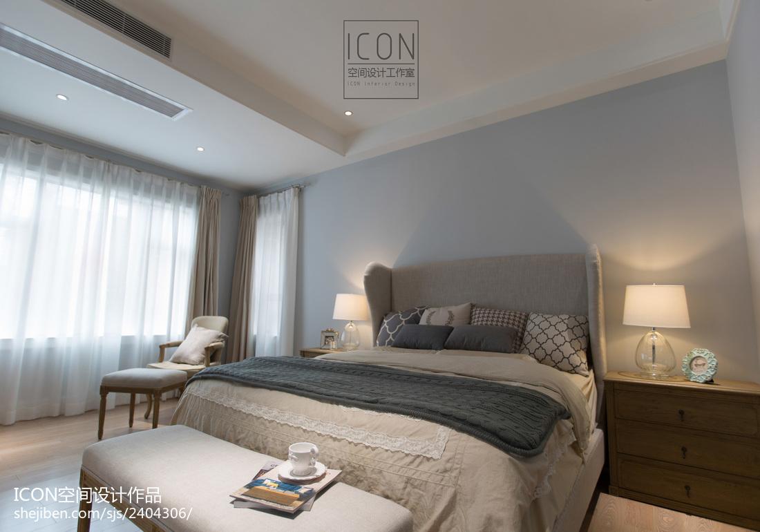 美式风格卧室装修设计图片卧室窗帘2图美式经典卧室设计图片赏析